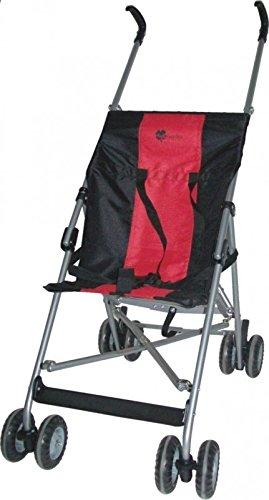 United Kids 506356 Buggy - Kinderwagen A201 -Extra leicht, rot/schwarz