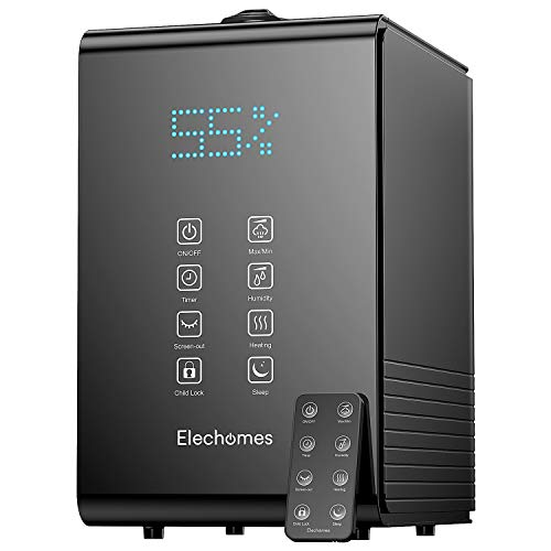 Elechomes SH8820 Humidifiers, 5.5L(1.45Gal) Top Fill Warm and Cool Mist Humidifier for Bedroom, Baby Room, Plants, Remote Control, 20dB Ultra Quiet, LED Display, 600ml/h Max Humidity, Auto Shut-off