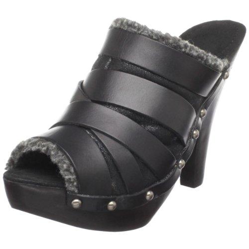 Maxstudio Women's Aura Platform Sandal,Black Baby Calf,10 M US