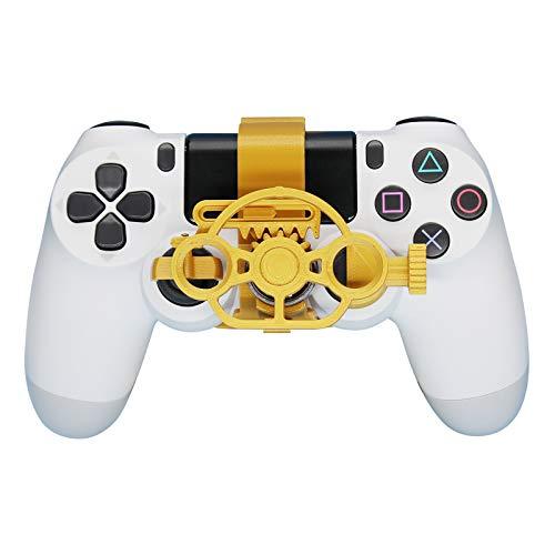 SHEAWA Manette de jeu PS4 Mini volant de rechange pour Sony PS4 Accessoires de jeu de course (métal doré)