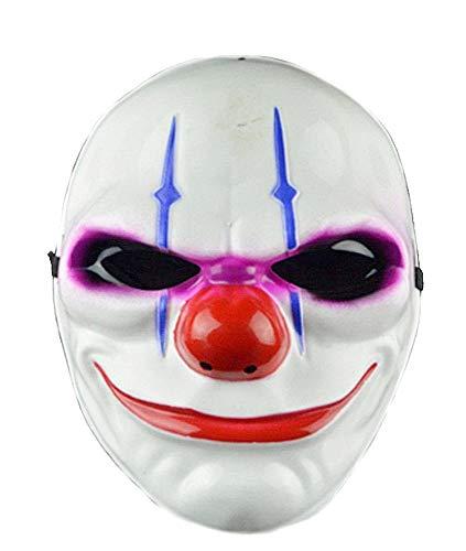 Clownmasker - moordenaar - clown - gips - binnenvoering - elastische banden - origineel idee voor een verjaardagscadeau voor kerstmis pennywise clown horror joker