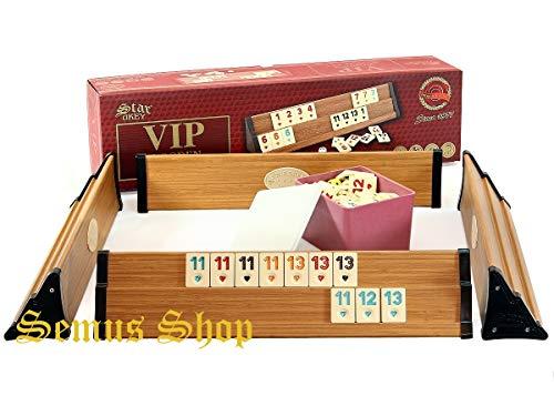 Sehr Hochwertige Holz Wooden Rummy Set VIP Okey mit Melamin Steine AHSAP Okey TAKIMI mit SEMUS Kugelschreiber