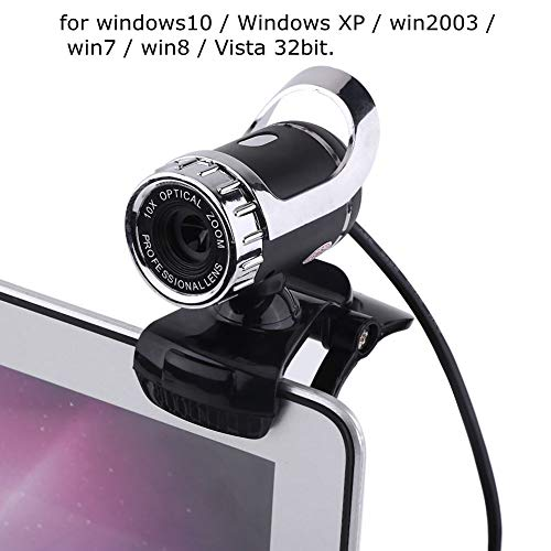HD Webcam,Richer-R 12.0M Pixel Web Cam Camera HD Webcam mit Mikrofon,USB Digital Video HD Webcam mit 360 ° Drehständer,Unterstützt CC2000,AIM,Netmeeting,ICQ,MSN usw. (Silver)