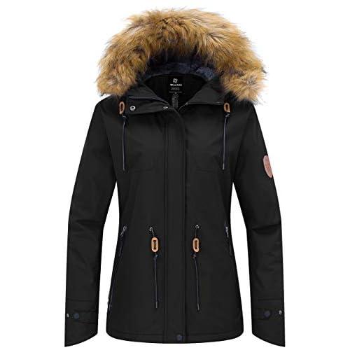 41JDVCiuAcL. SS500  - Wantdo Women's Waterproof Ski Jacket Outdoor Windproof Sports Coat Warm Winter Fleece Coats Mountain Snowboarding…