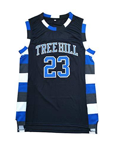 Nathan Scott Jersey One Tree Hill 23 Ravens Basketball Jersey Stitched Sport Movie Jersey Black S-3XL (XXXL)