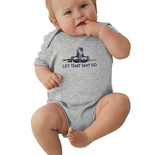Let That Shit Go-Rafiki-Meditating Baby Boys Pijama Unisex Romper Baby Girls Body Infant Kawaii Jumpsuit Outfit 0-2t Niños,Gris,6 Meses