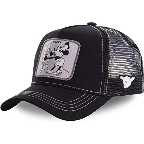 New Snapback Cotton Baseball Cap Men Women Hip Hop Dad Mesh Hat Trucker Hat-NEW MICKEY BLACK