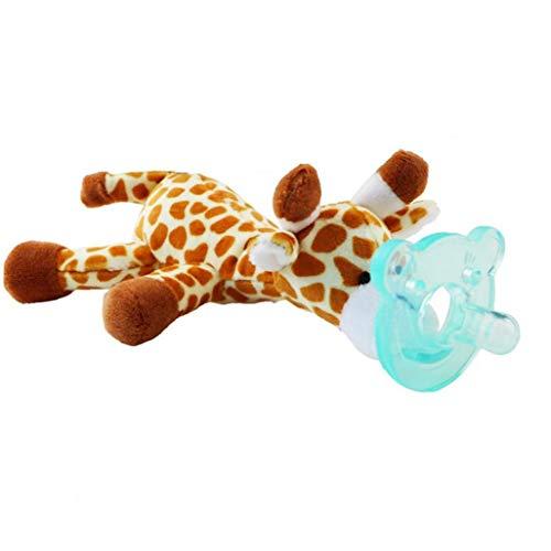 Juguete Animal Bebé Con Silicona Chupete Chupete Soothie Infantil Y Mordedor Titular Con Juguetes De Peluche - Estilo Al Azar