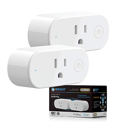 IBRIGHT Smart Plug, Smart Home WiFi Outlet, Remote App Control, Supports 2.4GHz Network, No Hub...