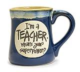 I'm a Teacher Superpower Mug - 18 Oz (Blue)
