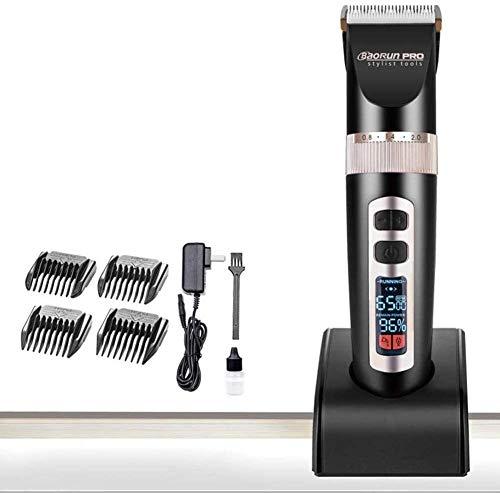 Mayn Haarschneider Set Elektro-LCD-Display-Haar-Trimmer Keramik-Schneidemaschine Haarscherer