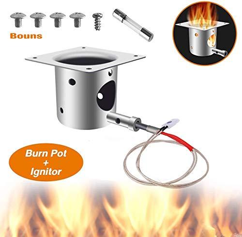 ANGINSTAR Angelstar Feuerbrenntopf Ersatzteile für Traeger und Pit Boss Pellet Grill Brenner Fire Burn Pot+B