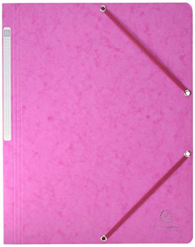 Exacompta 5560E - Carpeta con goma, color rosa