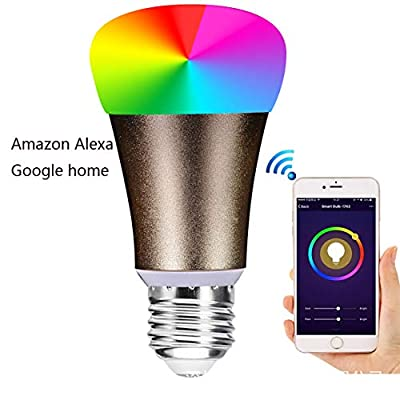 MYMGG GYN-Dm Smart Home Led Bulb Alexa Google Home Voice Control Wireless Remote WiFi Bulb E277W Light