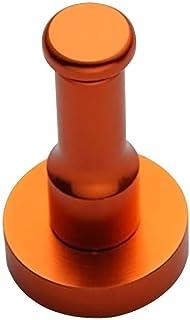 TOPBATHY アルミコートフックドアの壁に取り付けられた浴室ハンガーMultifuctionフック用洋服タオルローブ帽子アクセサリー(オレンジ)