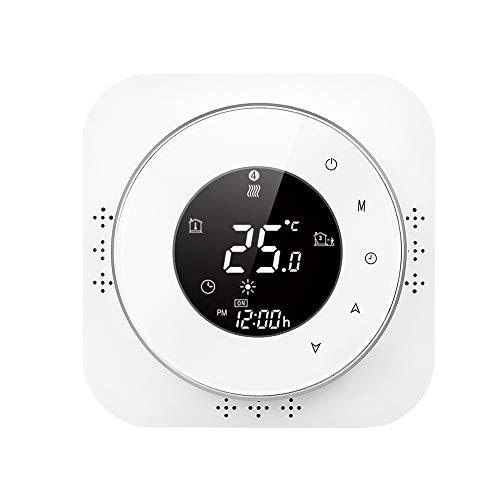 Termostato inteligente Wi-Fi programable para caldera a gas Control de aplicación por voz, Retroiluminación LCD, Cronotermostato compatible con Amazon Alexa Echo Google Home, 95-240 V
