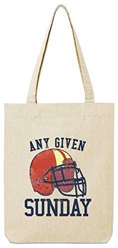 ShirtStreet American Football Gruppen Fan Premium Bio Baumwoll Tote Bag Jutebeutel Stanley Stella Any Given Sunday 2, Größe: onesize,Natural