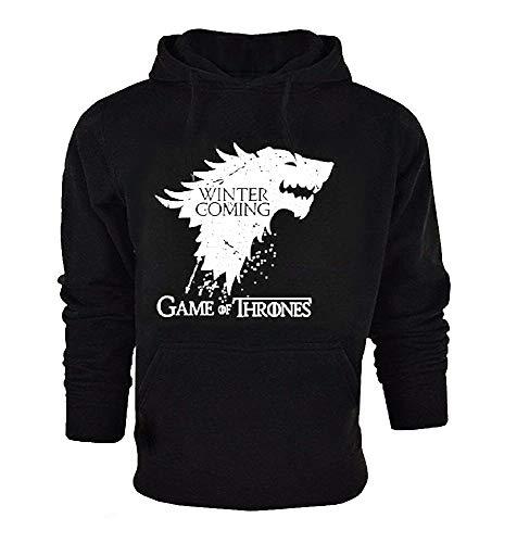 Sweatshirt sweater heren - - met zakken en capuchon - zwart - origineel cadeau-idee