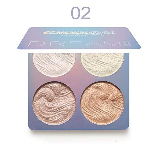 ARTIFUN Baked Highlighter Powder Palette Wasserdicht Langlebig Glänzend Erhellen Sie die Hautfarbe Leuchtendes Konturpulver für das Gesicht