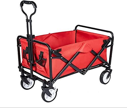 Vikbar bärvagn, vagn, campingvagn, hopfällbara rullvagnar, utomhus trädgårdssportvagn (fällbar utomhusvagn)