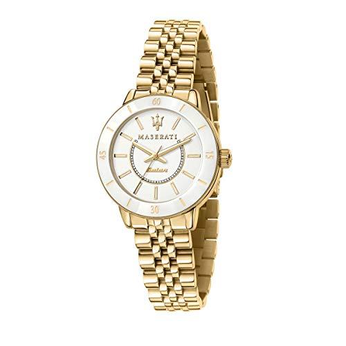 Maserati Reloj Mujer, Colección SUCCESSO Solar, Cuarzo, Solo Tiempo, en Acero, PVD Oro - R8853145502