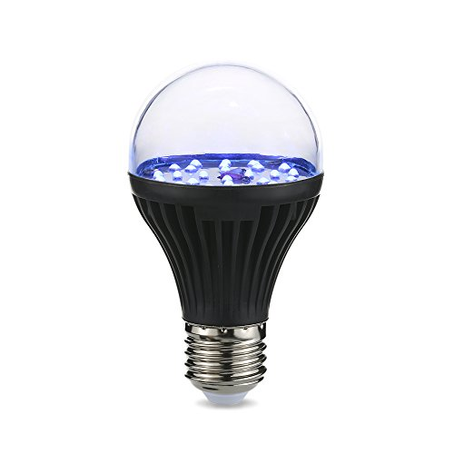 Lixada 7W 25 LEDs 365nm UV Light Bulb AC100V-240V A19 Ultraviolet Blacklight with E27 Lamp Base for Attracting Insects Monetary Validation Identify Fluorescent Dyes