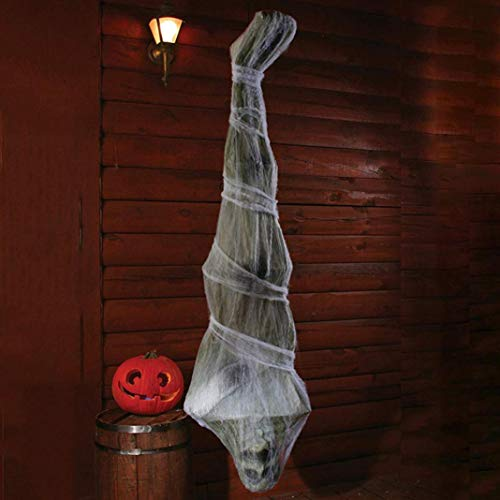 LbojailiAi Halloween Decoracion 1.8m Halloween Scary Mummy Ornament Party Haunted House Atrezzo Colgante Atrezzo - Verde Blanco