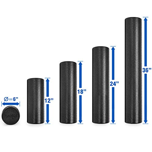Product Image 3: Yes4All EPP Exercise Foam Roller – Extra Firm High Density Foam Roller – Best for Flexibility and Rehab Exercises (18 inch, Black)
