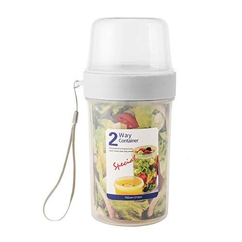 AIFUSI Mepal Lunchpot, 1070ml praktischer Müslibecher, Joghurtbecher, to go Becher Geeignet für Tiefkühler, Mikrowelle und Spülmaschine
