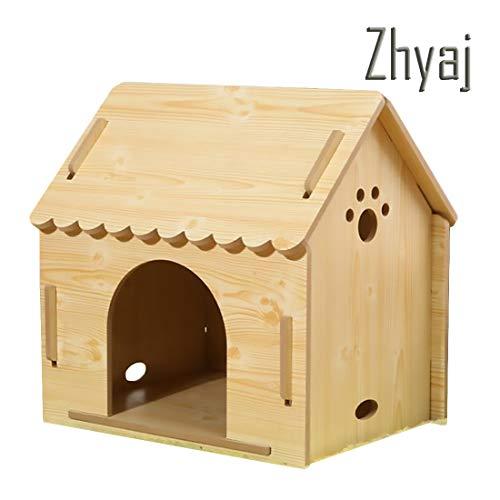 Zhyaj Rattan Garten Möbel, Mode Haustier Chalet Hundebett Handgemacht Gemütlich Atmungsaktiv Wasserdicht Und Feuchtigkeit Dauerhaft Abnehmbar Einfache Installation Hundehütte Outdoor,A