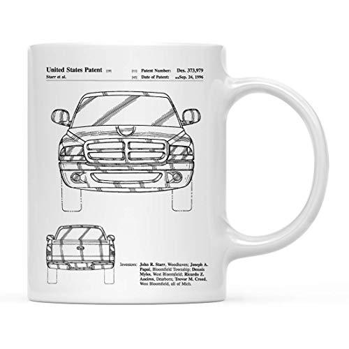 Tasse,Kaffeebecher,Kaffeetasse,Becher,Dodge Ram 1997 Patent 2 Becher, Dodge Truck, Auto-Enthusiast, Truck Mug, Man Cave,(11Oz) 330Ml