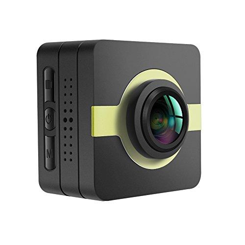 Matecam Videocamera, dash cam, action camera 4K-HI 16MPIMX206 Full HD 1080p, stabilizzatore, kit di accessori per bici, moto immersioni, nuoto ecc., Matecam X1 H.264 Dash Cam, verde