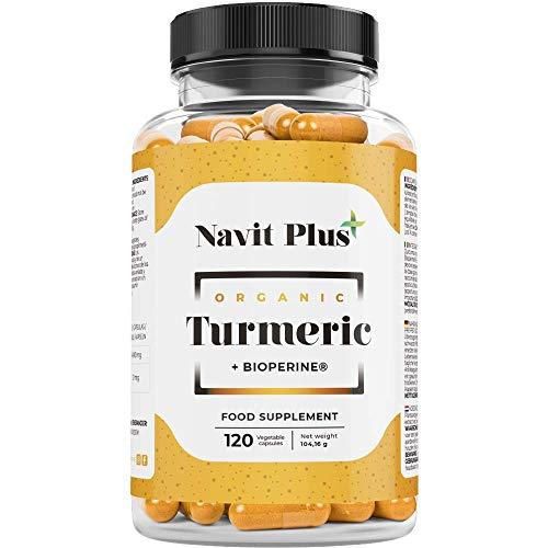 Cúrcuma en cápsulas con pimienta negra | CN Farmacia 193337.9 | Cúrcuma orgánica 1490 mg para articulaciones sanas, antioxidante y antiinflamatorio natural | 120 Cápsulas vegetales.
