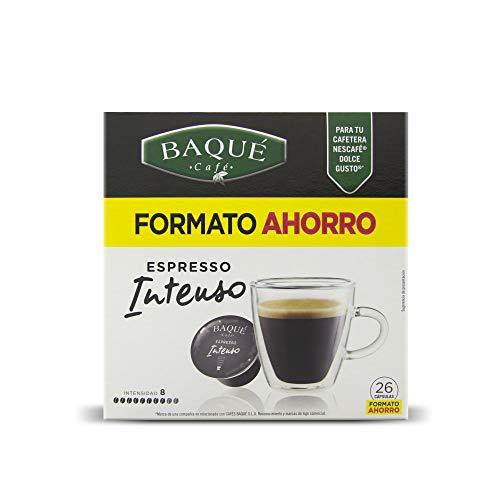 Cafés Baqué 26 Capsulas Compatibles Dolce Gusto Espresso Intenso 182g