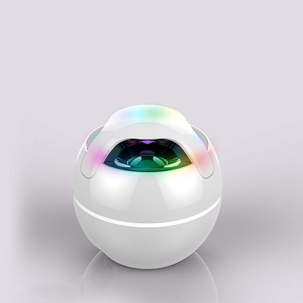 海洋ケイ素絶壁987 ポータブルミニBluetoothスピーカーステレオ3D Hi-Fiベース、15時間の再生時間、充電式バッテリー付き (Color : White)