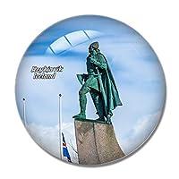 アイスランドレイキャビクレイフエリクソン冷蔵庫マグネットホワイトボードマグネットオフィスキッチンデコレーション