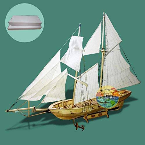 Modello Nave Natante Kit Costruzione Modelli Harvey Modello Barca a Vela Kit Modello Nave in Legno Attrezzatura scientifica Fai-da-Te Granvela Regalo la Decorazione