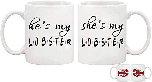 He's My Lobster She's My Lobster Mug Set You're My Lobster Mug Friends Fan Present Friends Wedding Present Friends Engagement Present Mug 11 Oz
