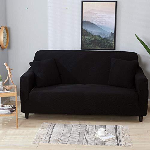 Allenger Corner Sofa,Leicht wasserdichter elastischer Sofabezug, universeller Rutschfester Kissenbezug für alle Jahreszeiten, Antifouling-Schutzbezug für Möbel-schwarz_190-230cm