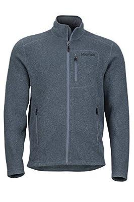 Marmot Men's Drop Line, Lightweight 100-Weight Sweater Fleece Jacket, Steel Onyx, X-Large