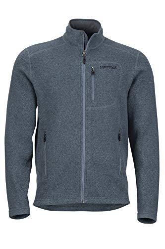 Marmot Drop Line Jacket Veste Polaire, Veste d'extérieur à Fermeture éclair sur Toute la Longueur, Respirante, résistante au Vent Homme Steel Onyx FR: XL (Taille Fabricant: XL)