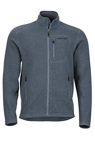 Marmot Men's Drop Line, Lightweight 100-Weight Sweater Fleece Jacket, Steel Onyx, Medium