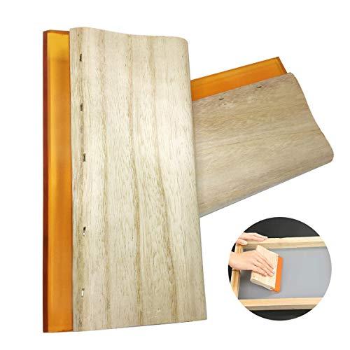 TheStriven 2 Stück Siebdruck-Rakel mit Holzgriff für Siebdruck Rakel Holzgriff Scratch Board Tools Bildschirm Drucken Rakel Stoff Craft Rakel Grafik Rakel Siebdruck Tintenschaber für Siebdruck