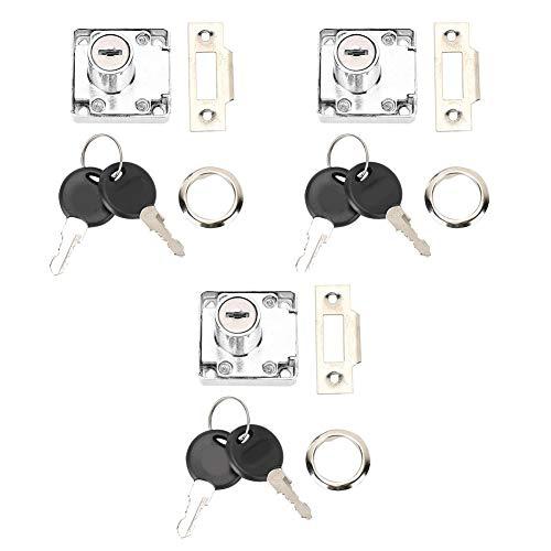 3 unids/set cerradura de cajón de escritorio llave de cerradura de gabinete de oficina abierta cerradura de llave de cajón Universal Hardware para oficina en casa gabinete puerta buzón de estudio escr