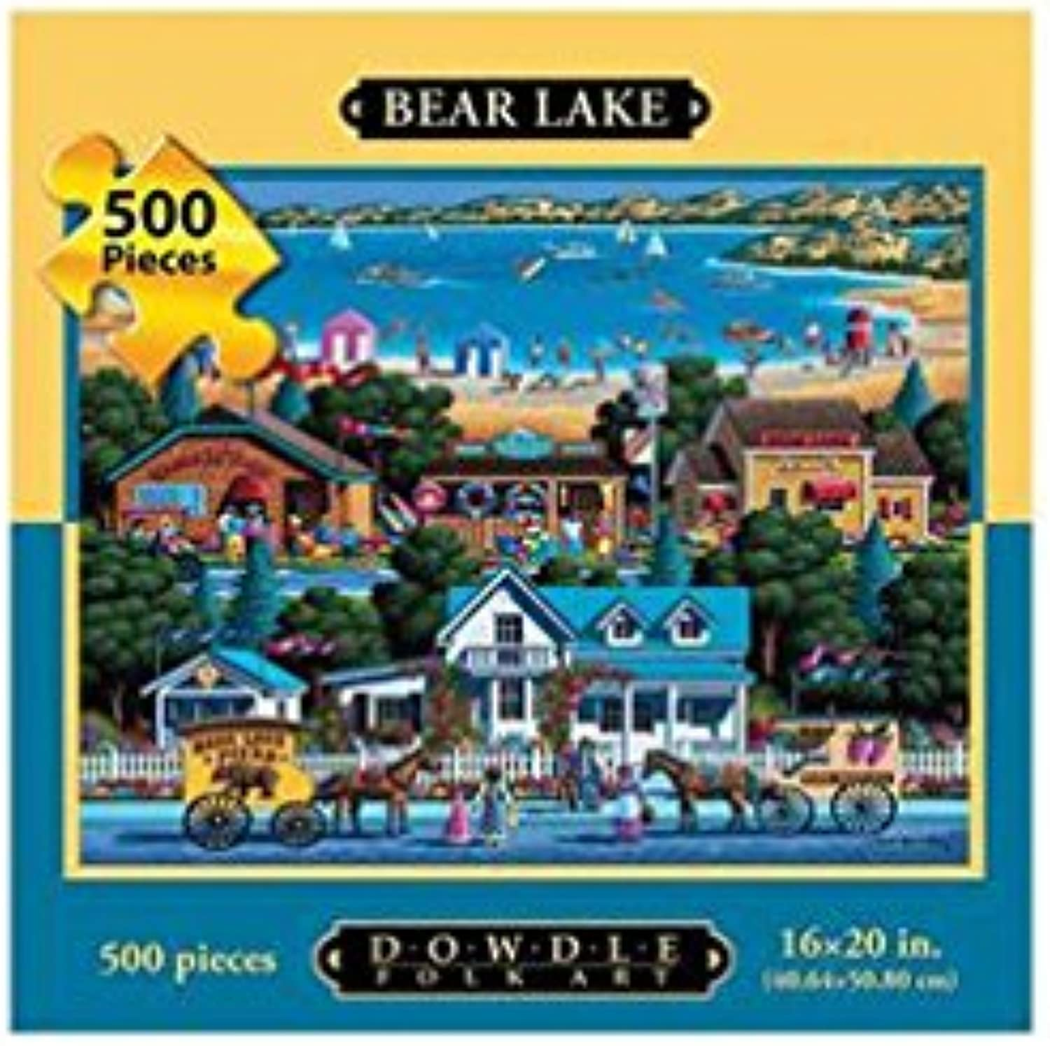 Dowdle Folk Art Dowdle Bear Lake 500 Piece Puzzle