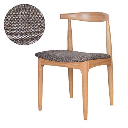 Eetkamerstoel, bureaustoel, stoel van massief hout voor kantoor met ontvangststoel, beschermmat, voor eettafel, kruk, geschikt voor woonkamer en kantoor