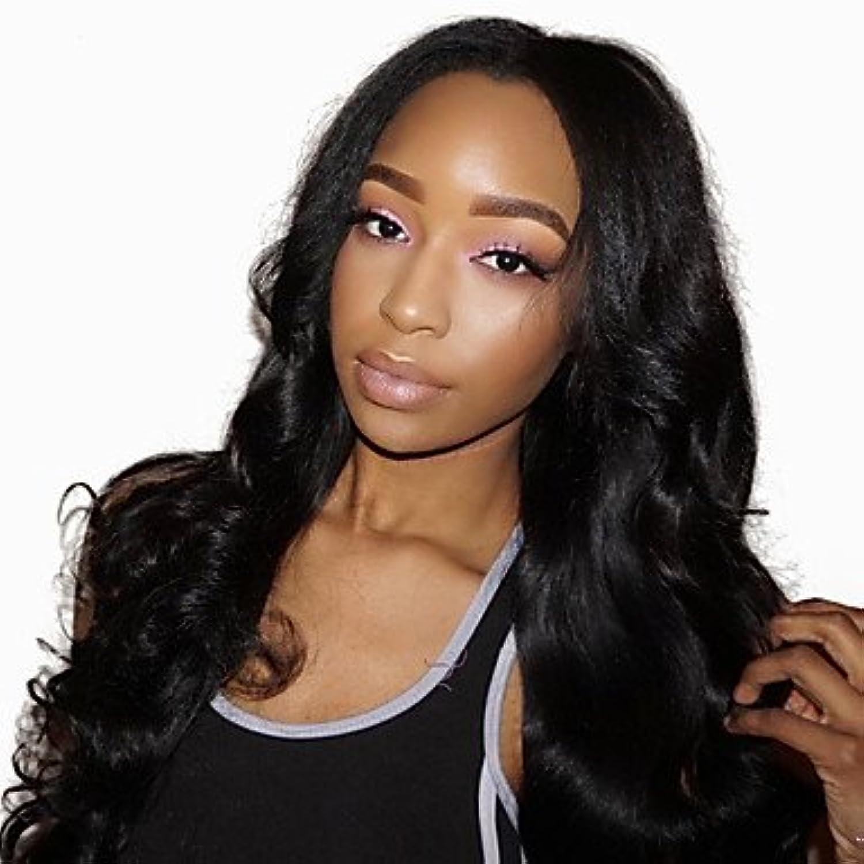 SISHUINIANHUA Damen Echthaar Perücken mit Spitze Haare mit intakter Kutikula (Remy Hair) Vollspitze Ohne Klebstoff und volle Spitze 180% Dichte 360, 180%