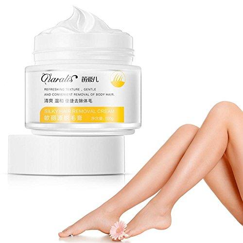 Crema depilatoria, 100 ml/botella crema depilatoria sin dolor, rápida y efectiva, en bikini, antebrazo, pecho, axila, piernas y brazos para hombres y mujeres