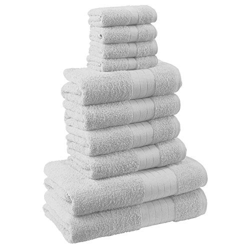 Dreamscene morbido asciugamani Set Regalo, Cotone, Bianco, 10pezzi