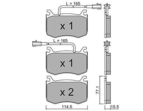 metelligroup 22-1099-0 - Made in Italy - Pastiglie Freno anteriori